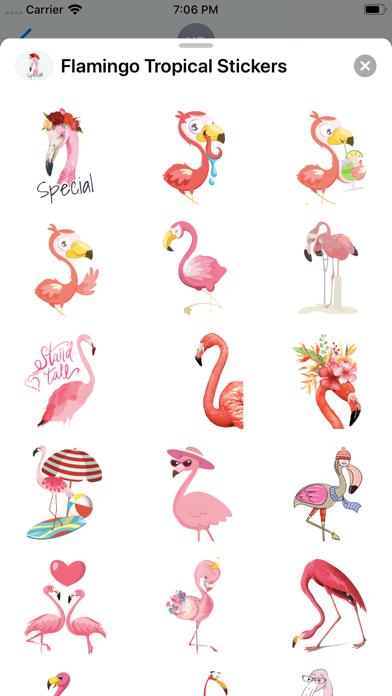 Flamingo Tropical Stickers screenshot 3