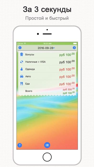 Скриншот №1 к DayCost Pro - Личные финансы