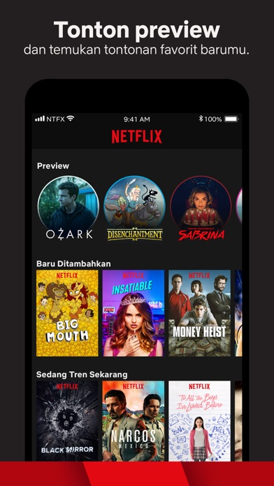 Screenshot for Netflix in Indonesia App Store