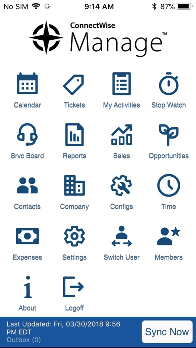 ConnectWise Manage by ConnectWise (iOS, United States) - SearchMan