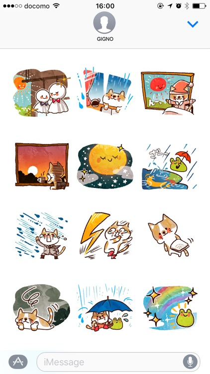 Cute weather stickers