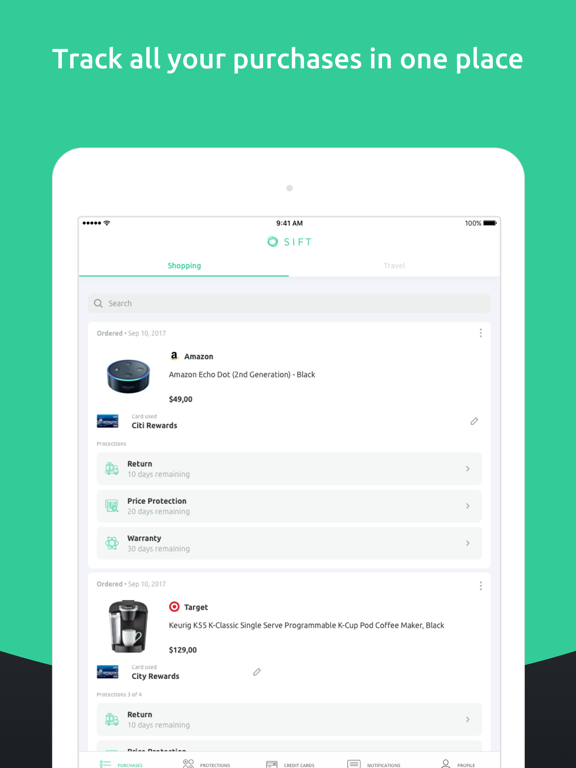 ShopInbox - Get Automatic Rebates when prices drop and track all your shipments, returns and deals in one place screenshot