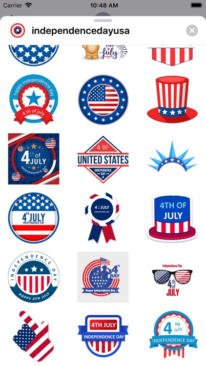 Independence day USA stickers screenshot-3