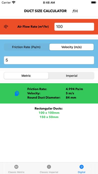Duct Meter Screenshot