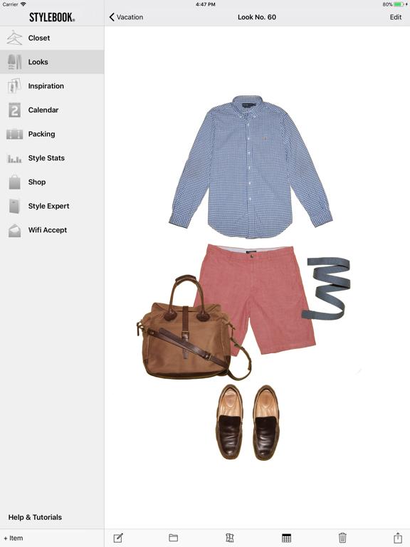 Stylebook Men ipad ekran görüntüleri