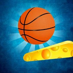 Flipper shot hoop basket games