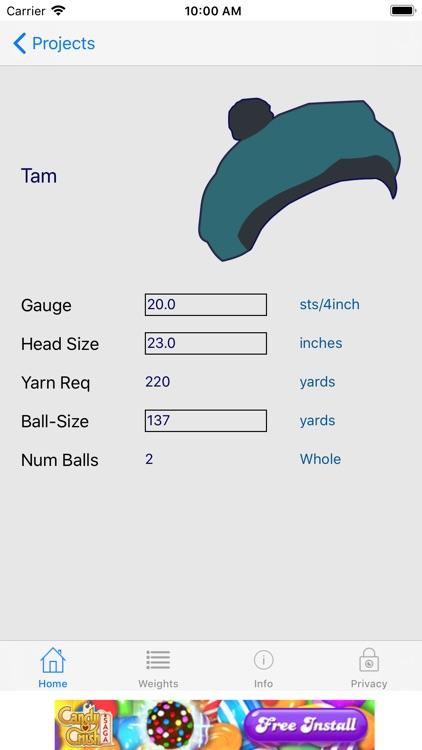Knitting Yarn Calc screenshot-3