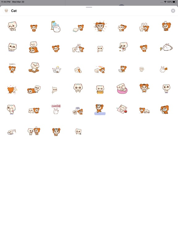 Lovey Cat Animated Stickers screenshot #1