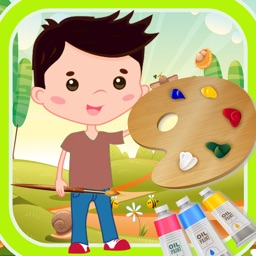 Finger Painting Coloring Book