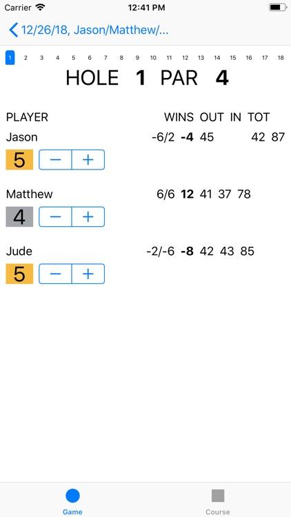 Joe's Scorecard