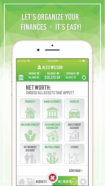 Budget App - Net Worth