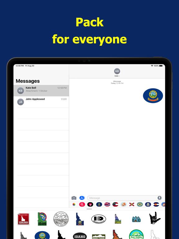 Idaho emojis - USA stickers screenshot 9