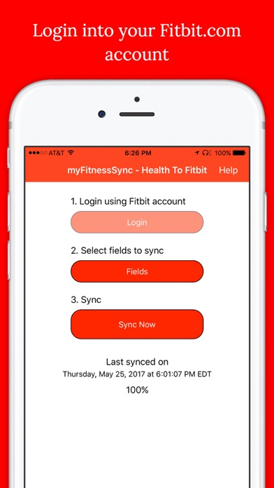 Sync For Apple Health > Fitbit screenshot one