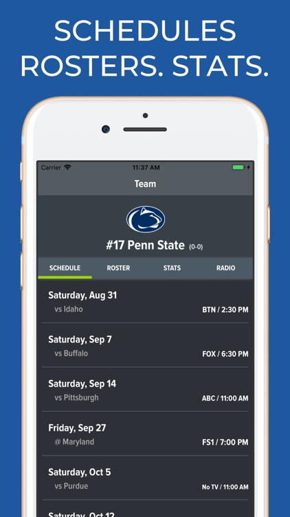 Penn State Football Schedules