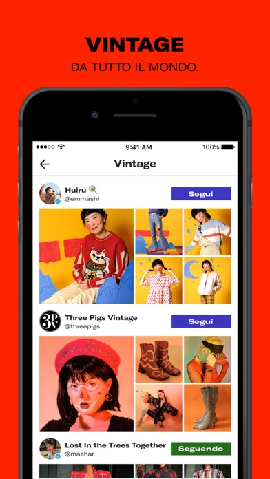 Screenshot for Depop - Fashion Marketplace in Italy App Store