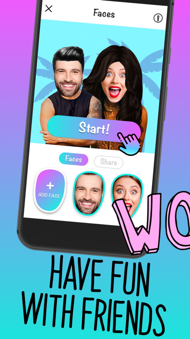 Faces - video, gif for texting Screenshot
