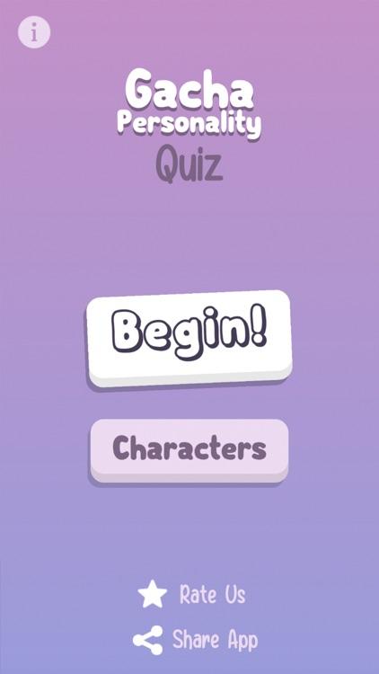 Gacha Personality Quiz
