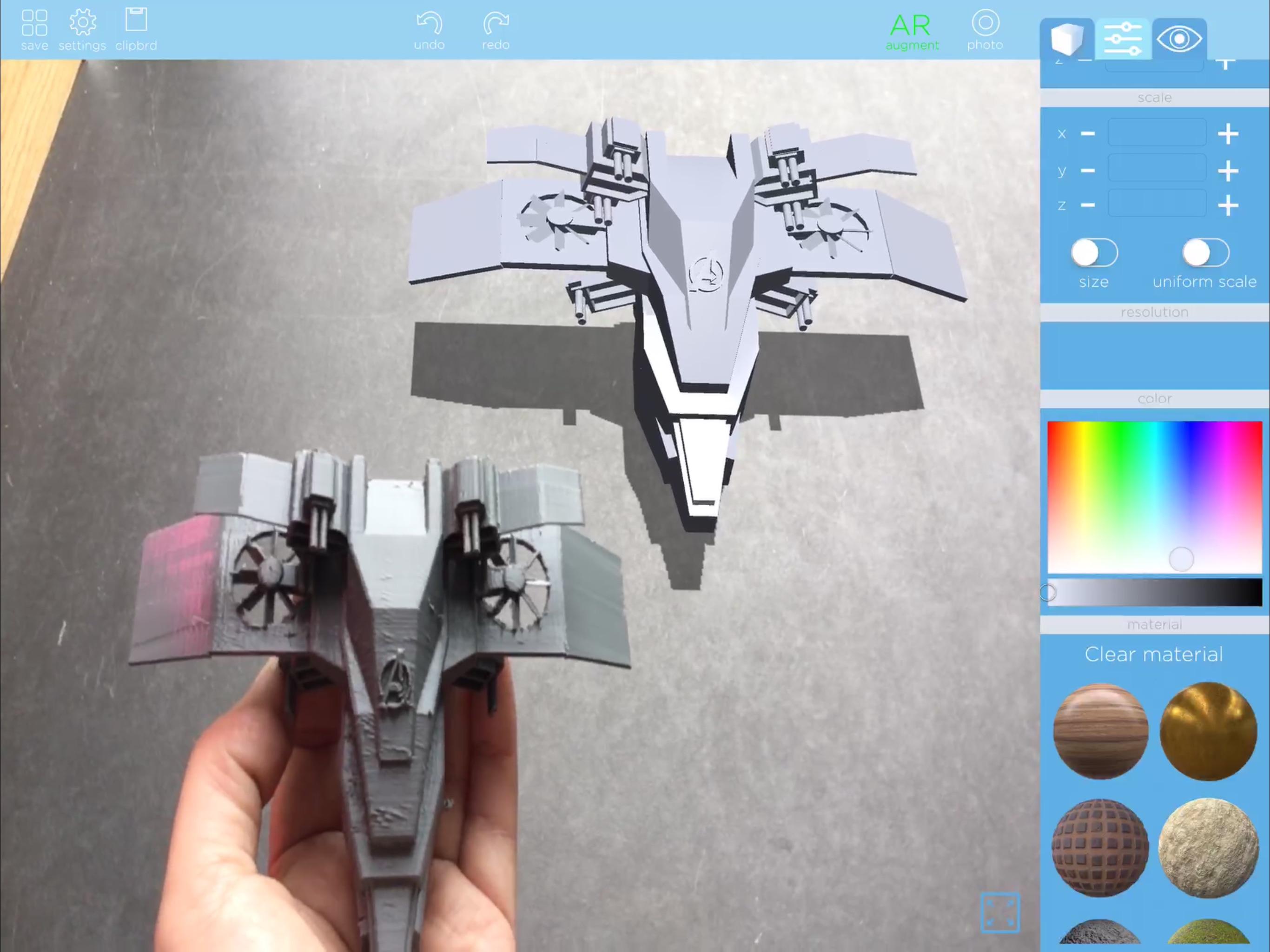 MorphiEdu: 3D Model, Print, AR Screenshot