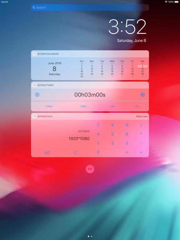 Lock Screen Apps :QTodayApps screenshot #1