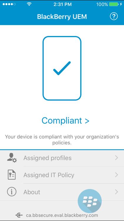 BlackBerry UEM Client – (iOS Aplikace) — AppAgg