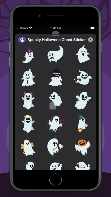 Spooky Halloween Ghost Sticker screenshot-4