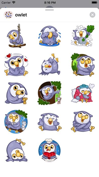 Owlet Stickers - fc - 窓用