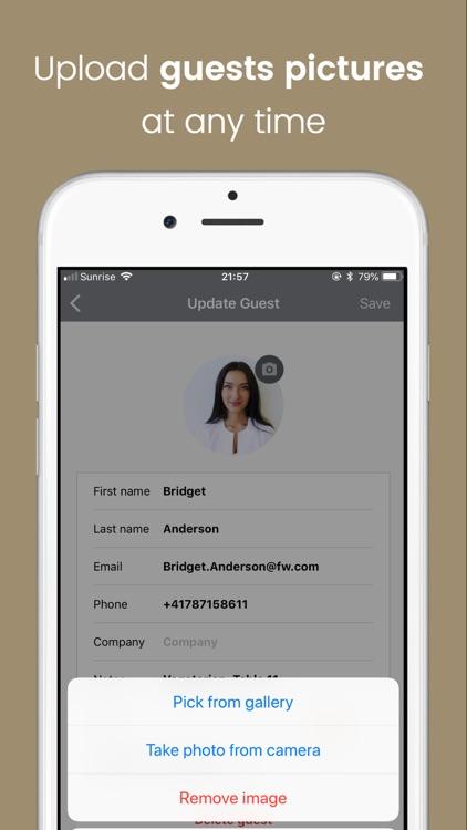 Eventor.app   Guest List screenshot-3
