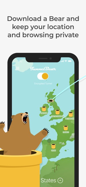 TunnelBear VPN & Wifi Proxy Capture d'écran