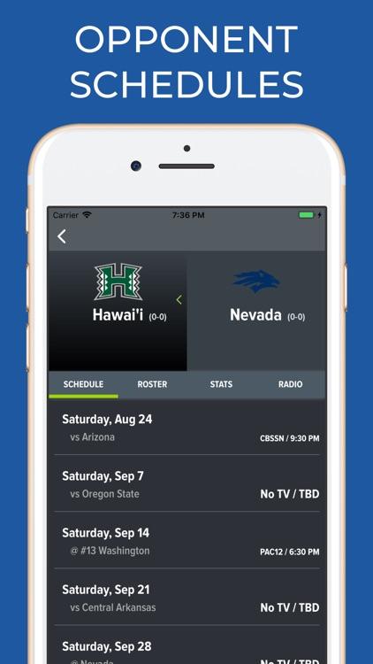 Nevada Football Schedules screenshot-5