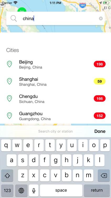 AirChecker, Air quality app screenshot-4