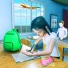 虚拟 高 学校 女孩 游戏