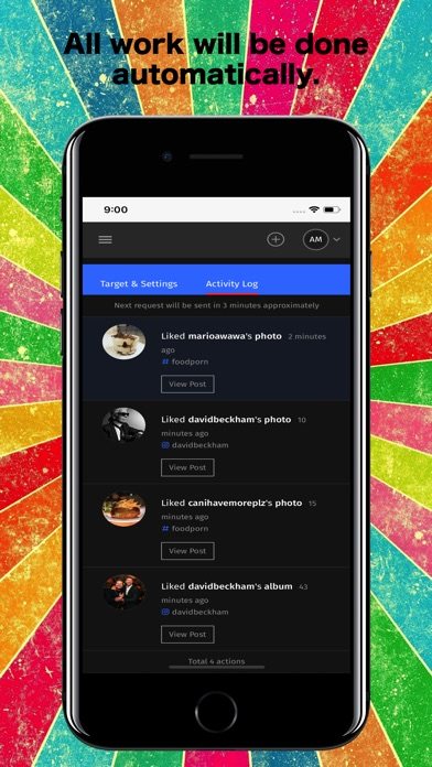 IO : Likes, Followers, Reposts Screenshots