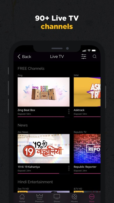 ZEE5 - Shows Live TV & Movies screenshot three