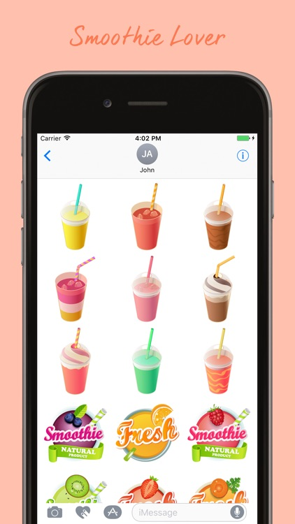 Smoothies Stickers Pack screenshot-3