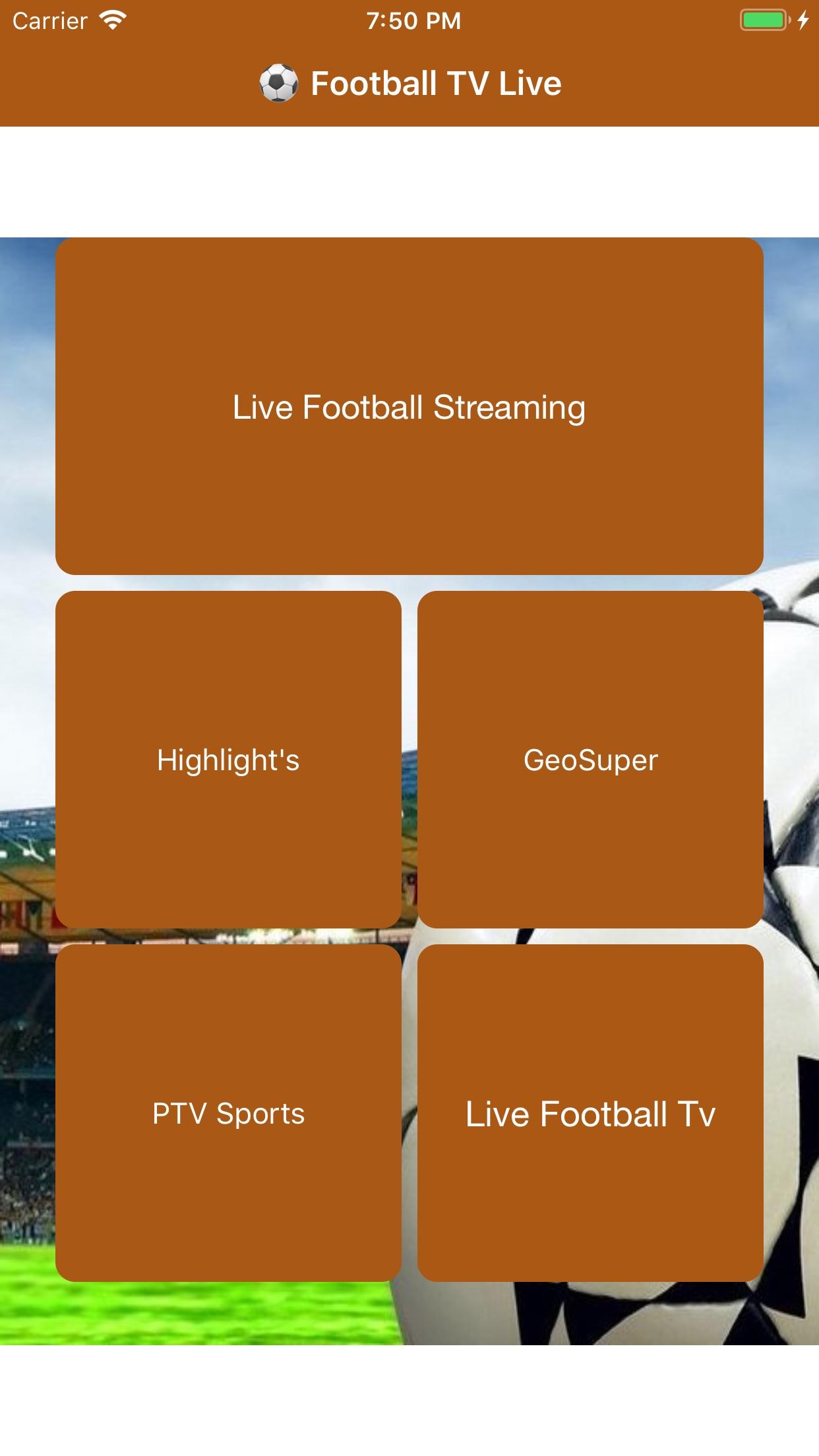 Football TV Live StreaminginHD Screenshot