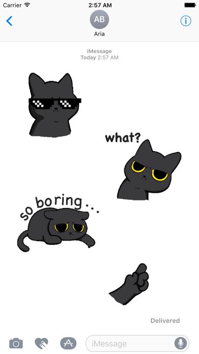 Animated Grumpy Black Cat screenshot 1