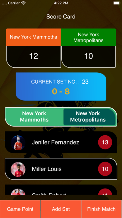 Lacrosse Score Card screenshot #7