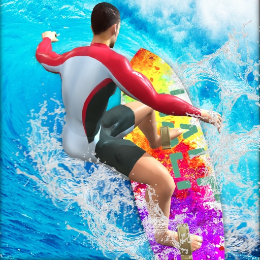 Water Surfing Stunt Flip Race iOS App