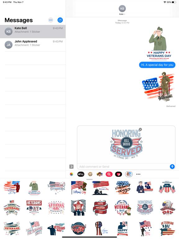 Happy Veterans Day Stickers screenshot 5