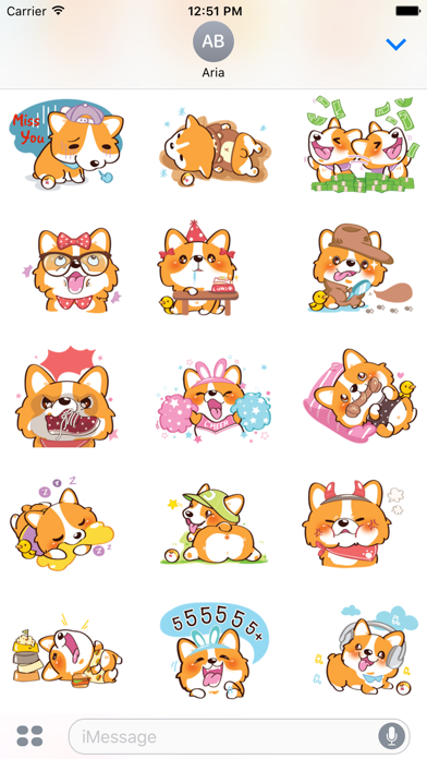 Super Cute Corgi Dog Stickers screenshot 3