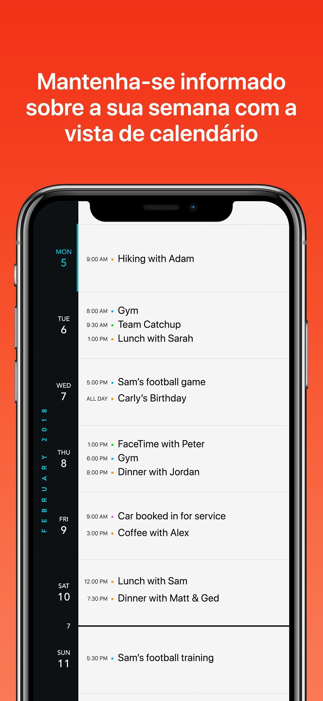 Screenshot do app Timepage
