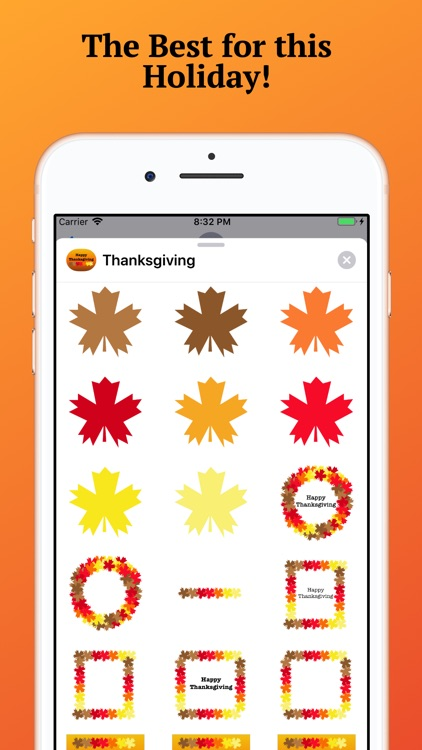 Thanksgiving Holiday Stickers.