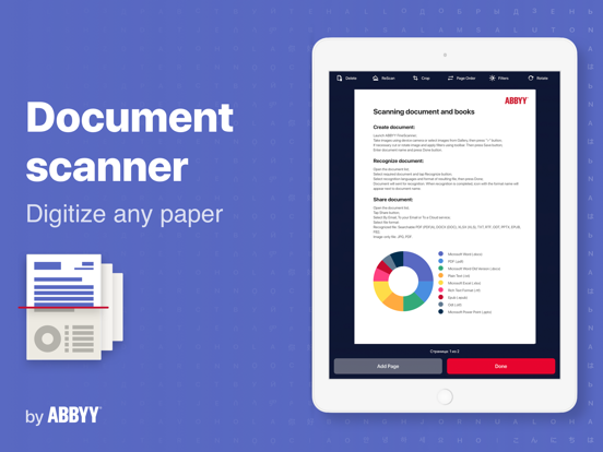 FineScanner - scan and recognize multipage documents in PDF or JPG screenshot