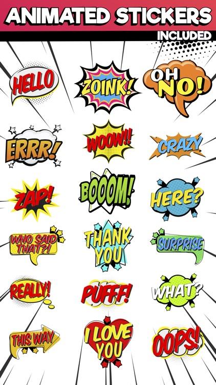 Comics Pop Art Sticker Effects