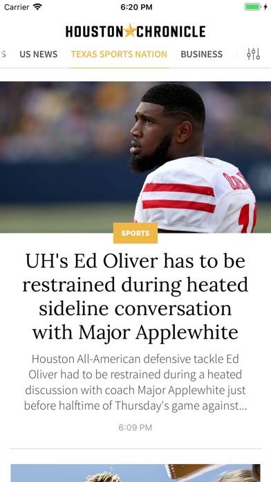 Houston Chronicle review screenshots