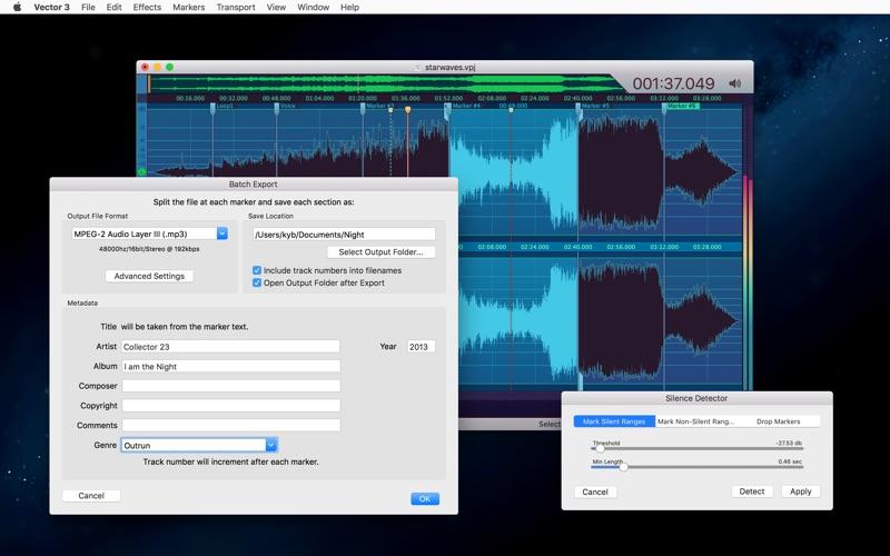 Vector 3 Express: Audio Editor скриншот программы 7