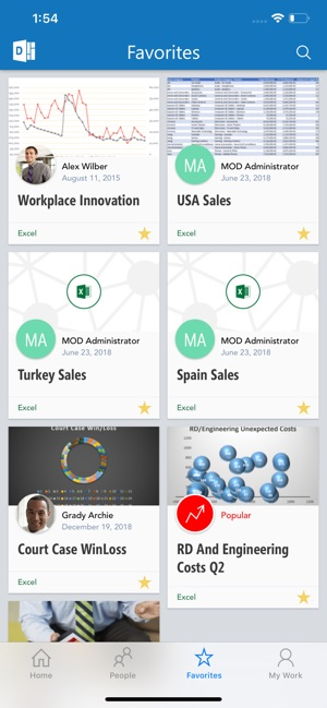 Office Delve - for Office 365 Screenshot