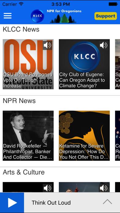 KLCC Public Radio App screenshot two