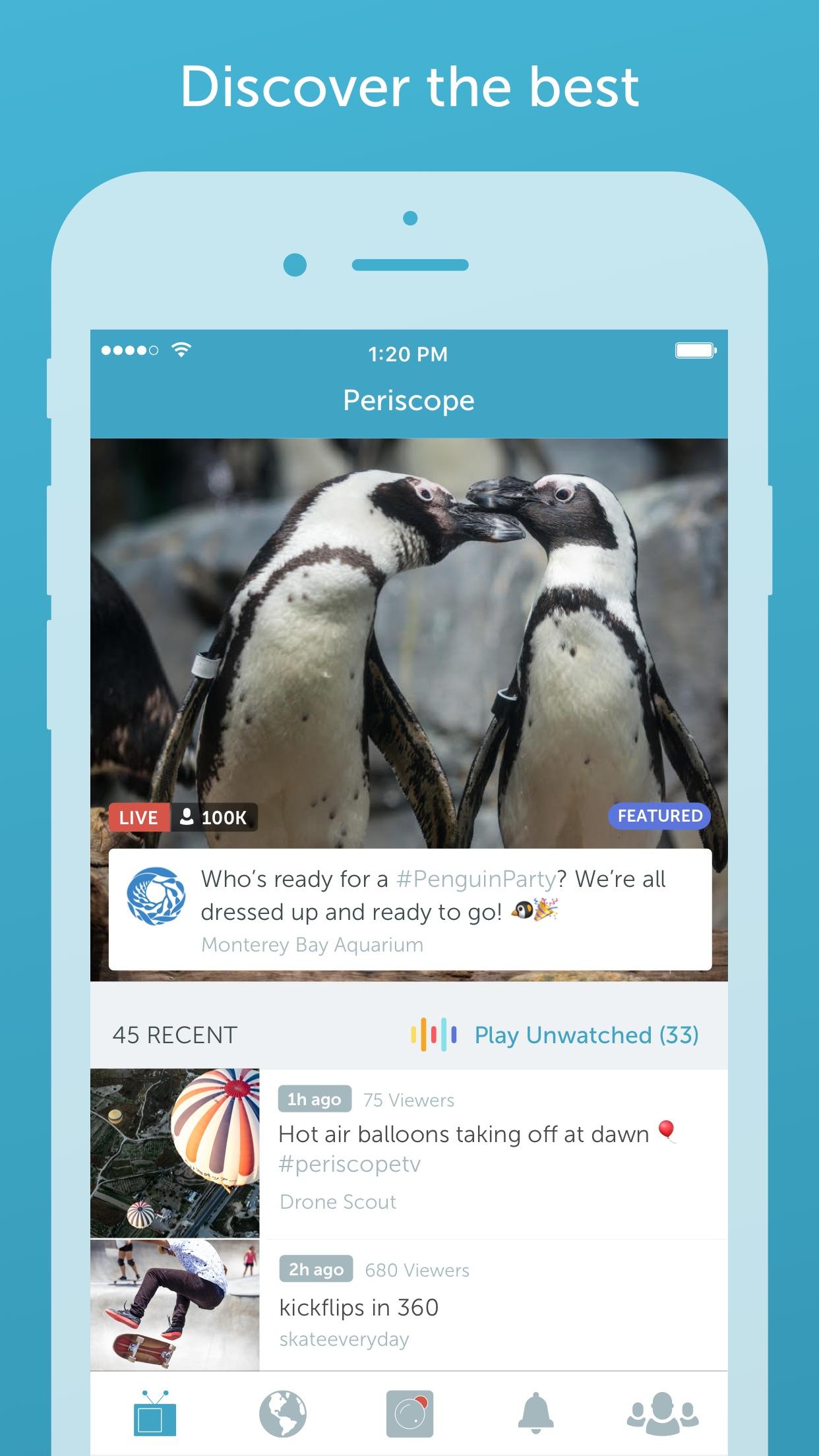 Periscope Live Video Streaming Screenshot