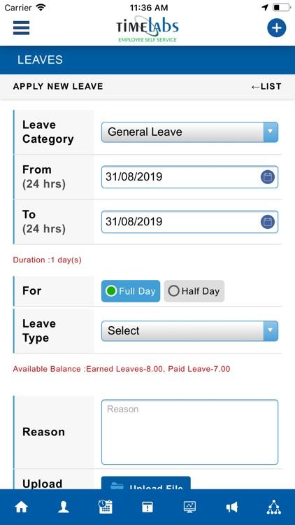 Timelabs Employee Self Service screenshot-6